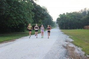 Here come the cross country ladies!