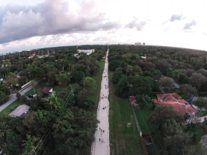 Drone view looking south towards Dadeland