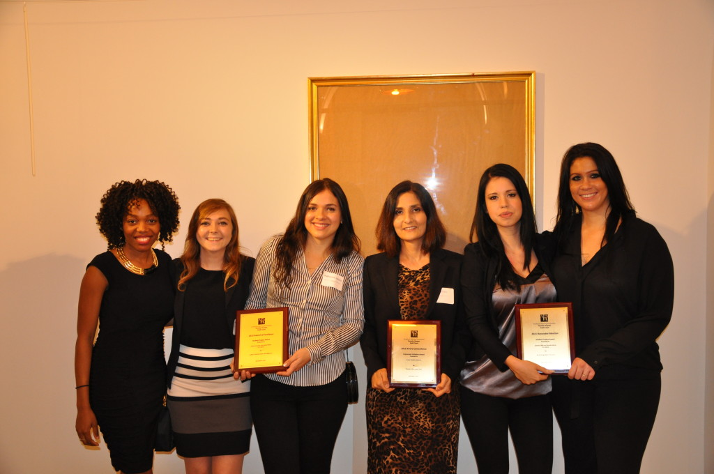 Professor Ebru Ozer and students from Florida International University awarded for their Ludlam Trail Design projects.