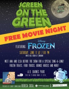 Screen On the Green flyer June 11